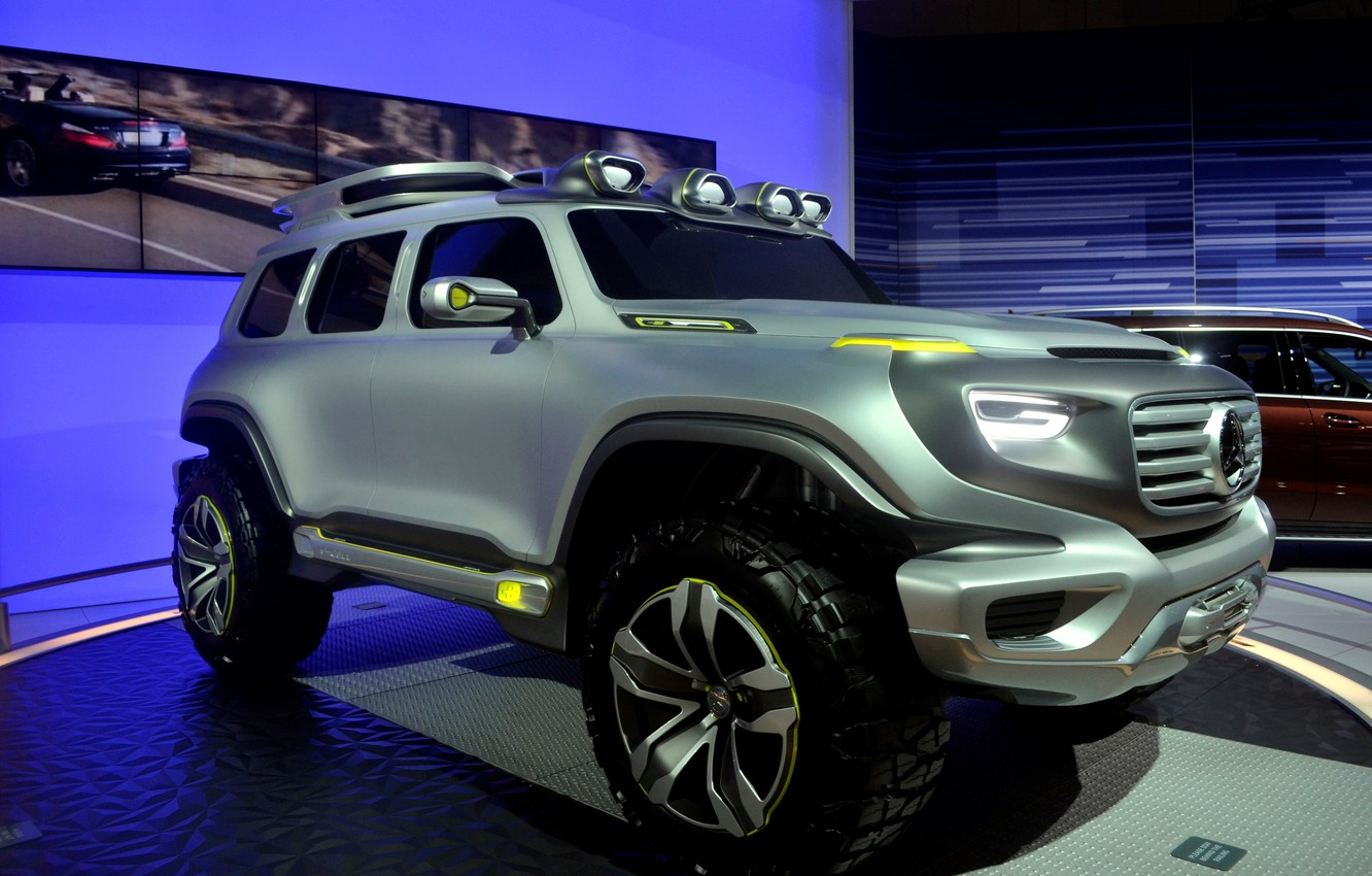 Photo wallpaper environmentally friendly car of the future, unique design, super-SUV, Mercedes-Benz Ener-G-Force