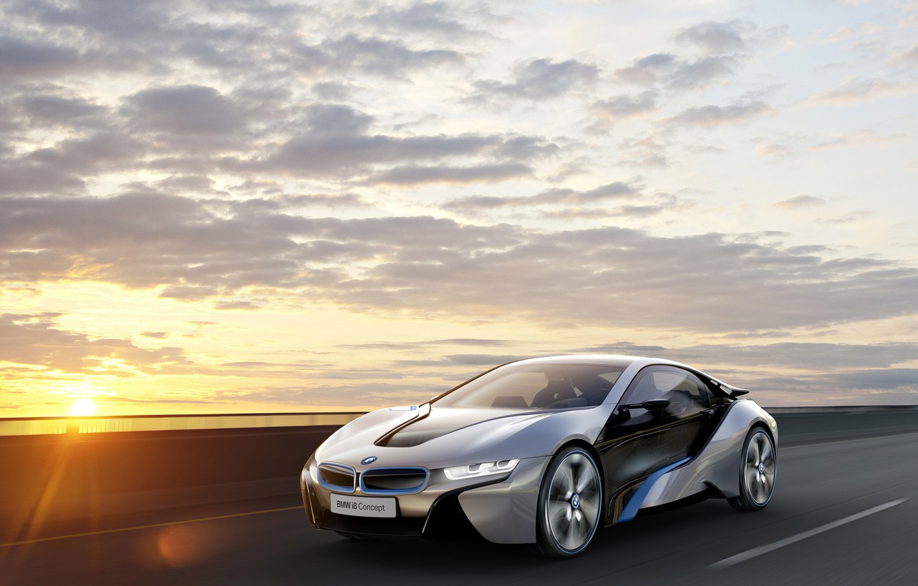 Photo wallpaper the sky, sunset, bmw, BMW, concept, the concept, ай8