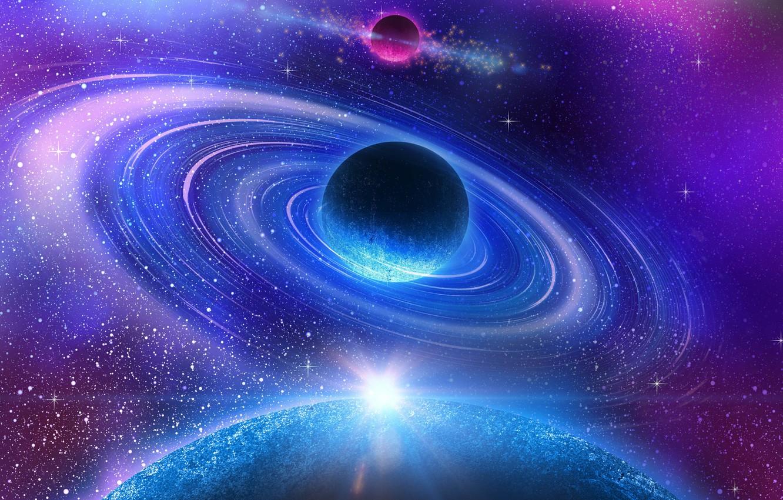Photo wallpaper colors, blue, energy, planet