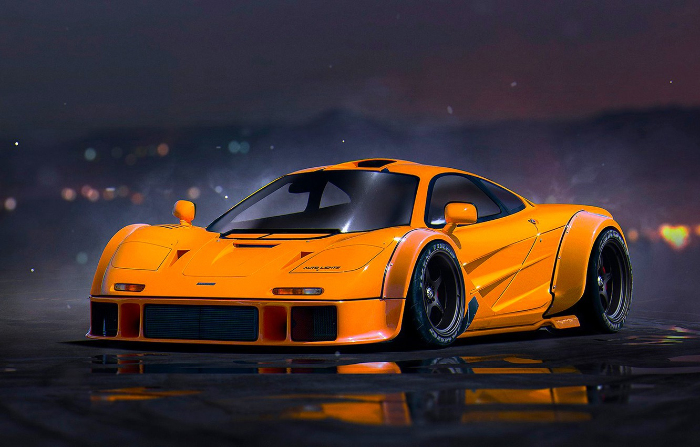 Photo wallpaper McLaren, Orange, Tuning, Future, Supercar, Nigth, by Khyzyl Saleem