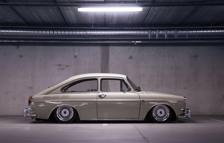Photo wallpaper light, Volkswagen, wheel, Parking, side, Type 3