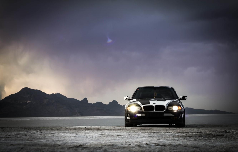 Photo wallpaper BMW, Tuning, BMW, winter, Alpina, E38, 740il, arctic camo, camo