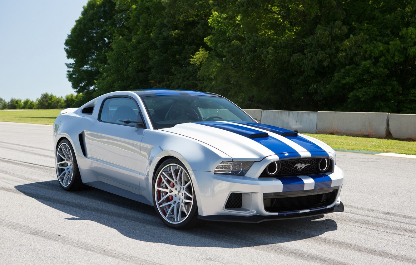 Photo wallpaper Mustang, Ford, Shelby, Trek, Ford, Mustang, Front, Before, Need For Speed, Track, Movie, 2014