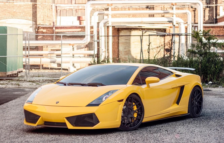 Photo wallpaper Lamborghini, Gallardo, Lamborghini, yellow, Gallardo