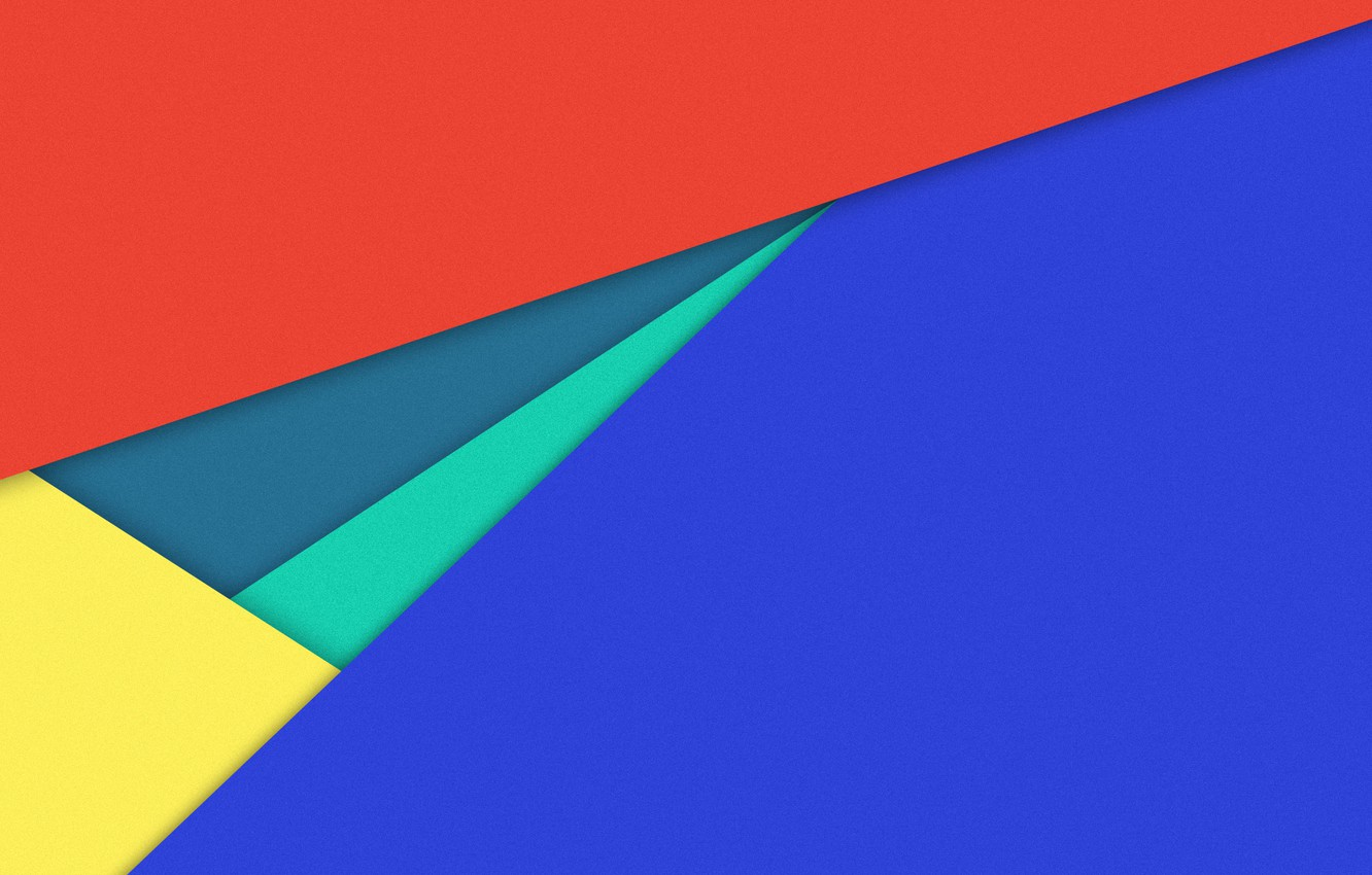 Photo wallpaper line, blue, yellow, red, geometry, material