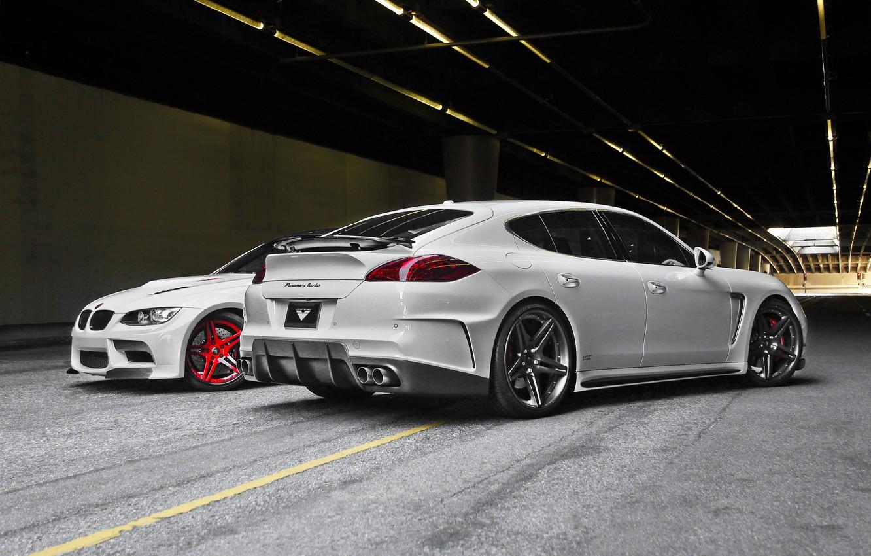 Photo wallpaper tuning, bmw, Porsche, Panamera, the tunnel, Porsche, vorsteiner