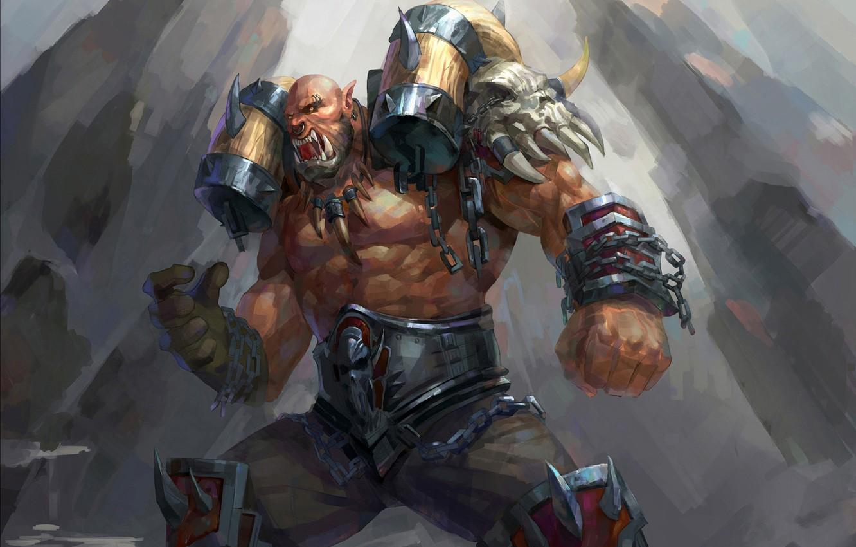 warcraft orc warrior art