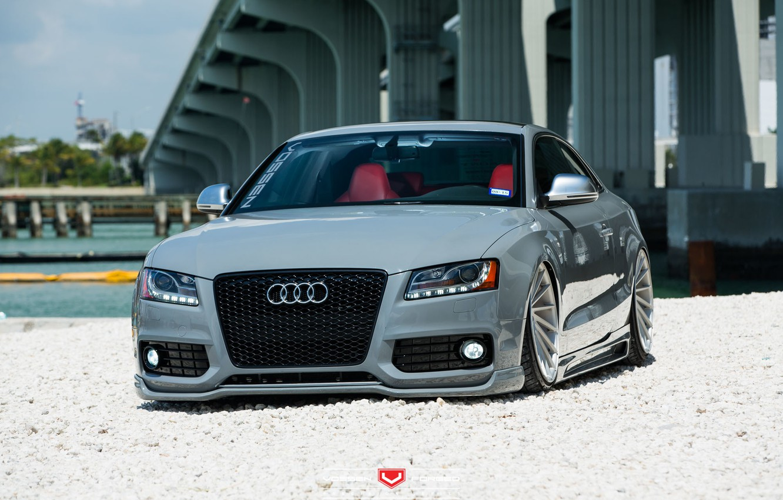 Photo wallpaper machine, auto, Audi, Audi, wheels, drives, auto, Vossen Wheels