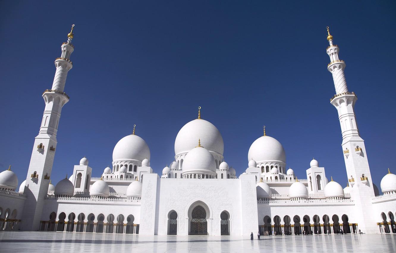 Photo wallpaper area, arch, Grand mosque, Abu Dhabi, The Sheikh Zayed Grand mosque, Abu Dhabi