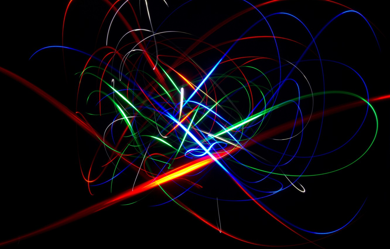 Photo wallpaper blue, red, abstraction, yellow, background, green