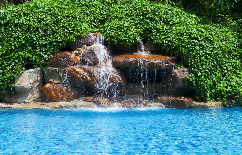Photo wallpaper river, waterfall, river, landscape, waterfal
