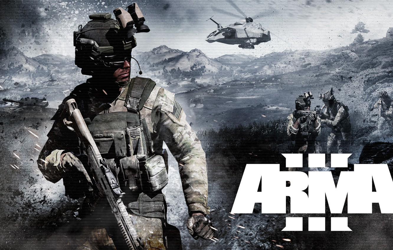 Wallpaper weapons, soldiers, tank, helicopter, arma 3 images for