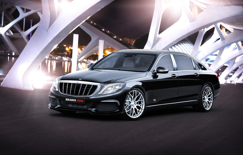 Photo wallpaper Mercedes-Benz, Brabus, Maybach, Mercedes, Maybach, BRABUS, S-Class, X222, 2015