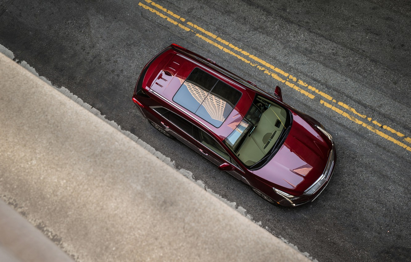 Photo wallpaper markup, Cadillac, the view from the top, 2017, XT5