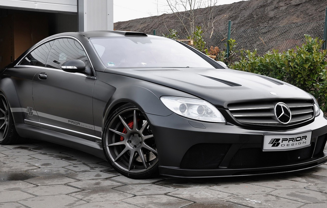 Photo wallpaper Mercedes Benz, Black Edition, Tuned by Prior Design, CL (C216)