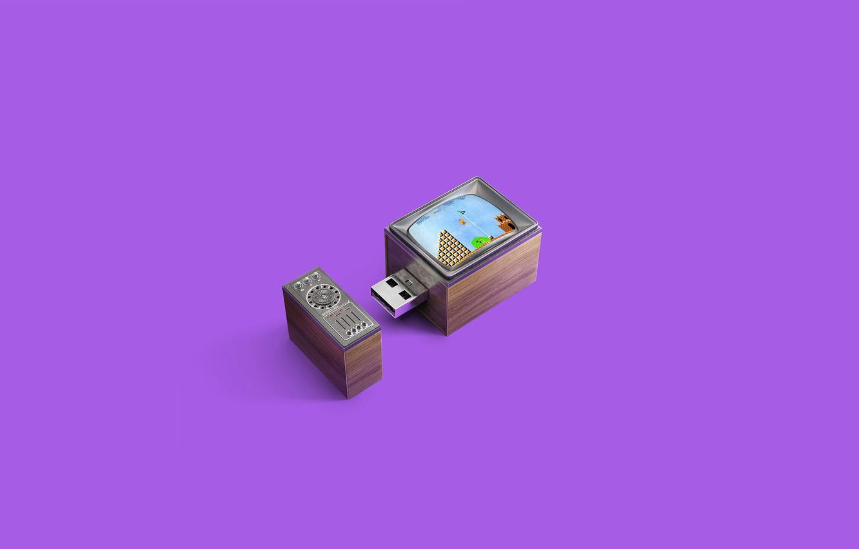 Photo wallpaper Minimalism, Super Mario Bros., Andrei Lacatusu, Memories Stick, Old TV