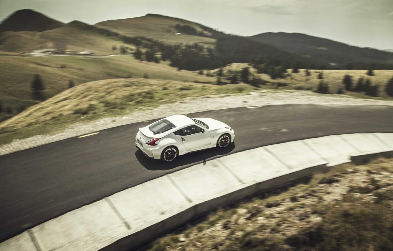 Photo wallpaper road, hills, Nissan, 370Z
