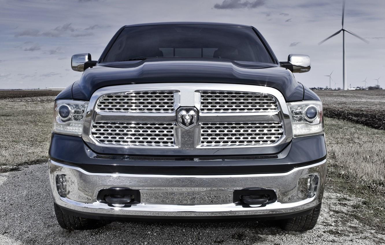 Photo wallpaper Dodge, Dodge, 2012, SUV, 1500, Pickup, Chrome, Ram, REM, Pichak, Laramie Crew Cab