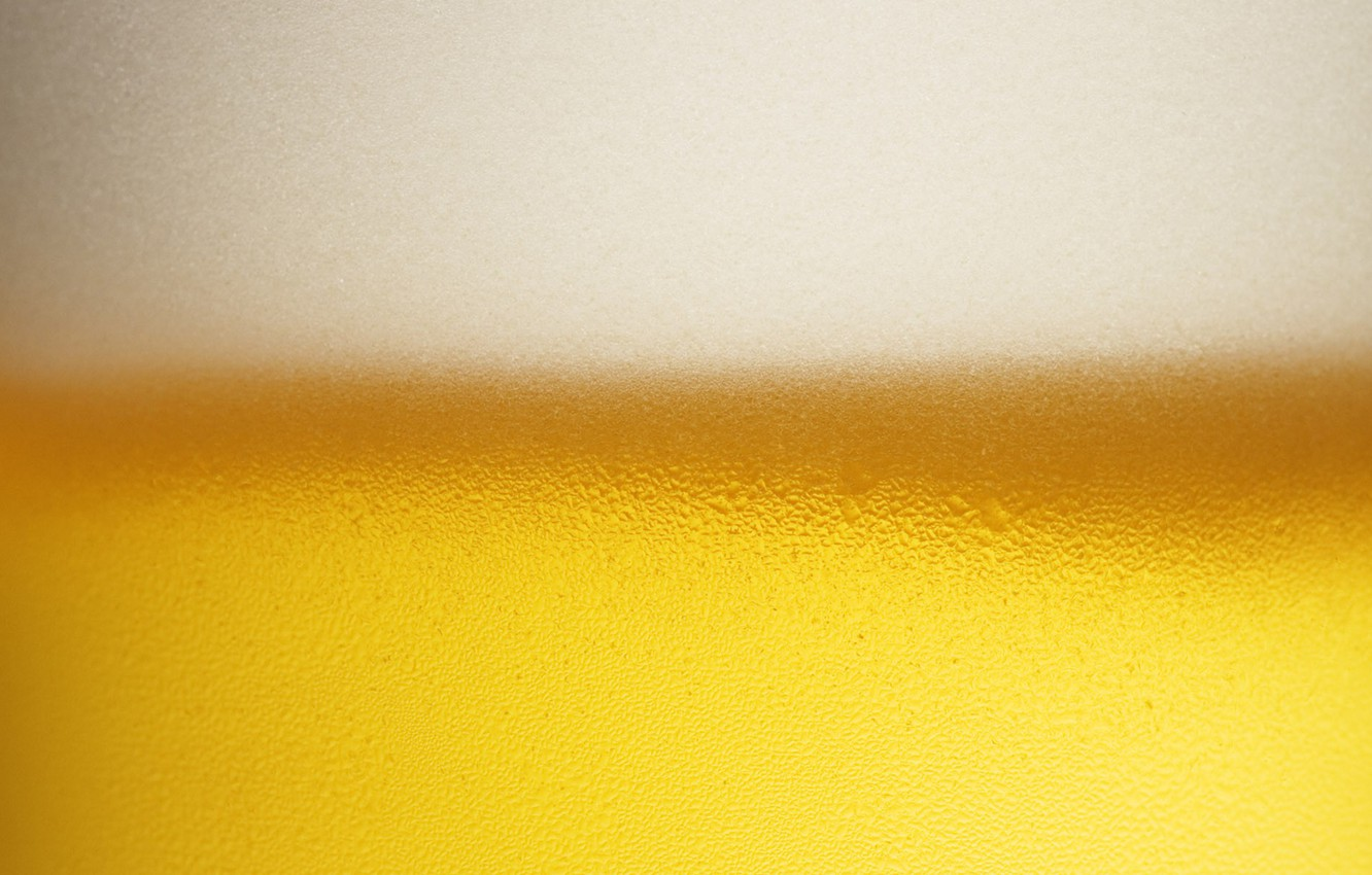 Photo wallpaper white, drops, yellow, bubbles, beer