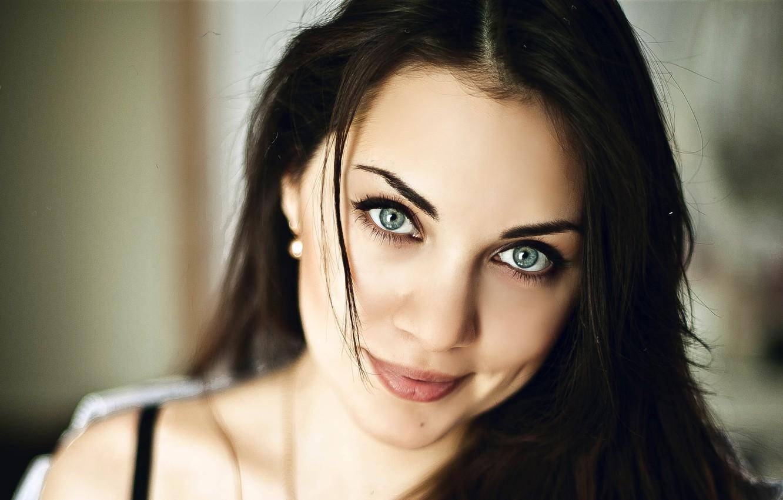 Photo wallpaper Eyes, Brunette, Samburski, Nastasia, Mole