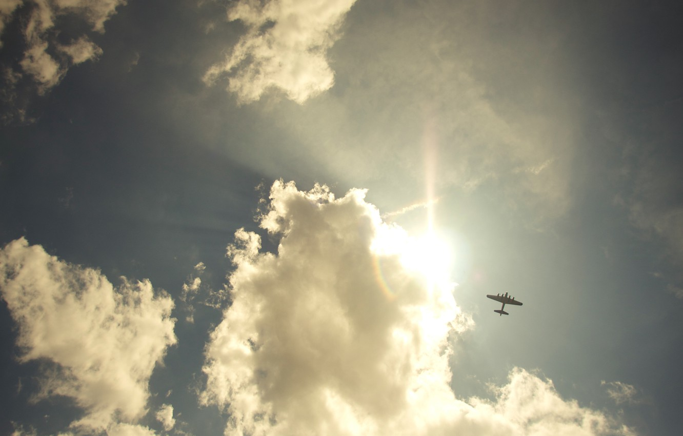 Photo wallpaper the sky, freedom, clouds, landscapes, the plane, sky, freedom, clouds, flight, airplanes