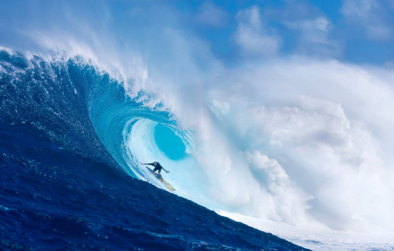 Photo wallpaper the ocean, sport, wave, surfing, surfer, surfing