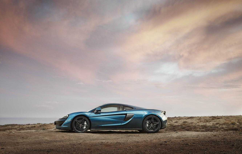 Photo wallpaper car, auto, the sky, McLaren, wallpaper, side view, 570GT