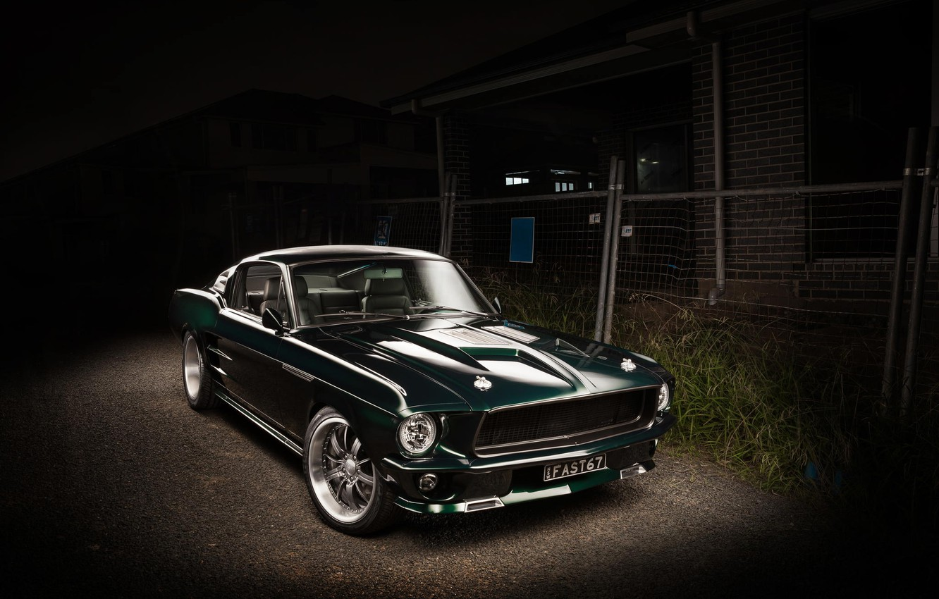 Photo wallpaper Mustang, Ford, 1967, Fastback
