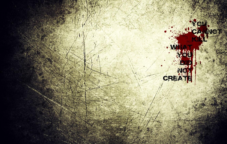 Photo wallpaper drops, the inscription, Texture, blood