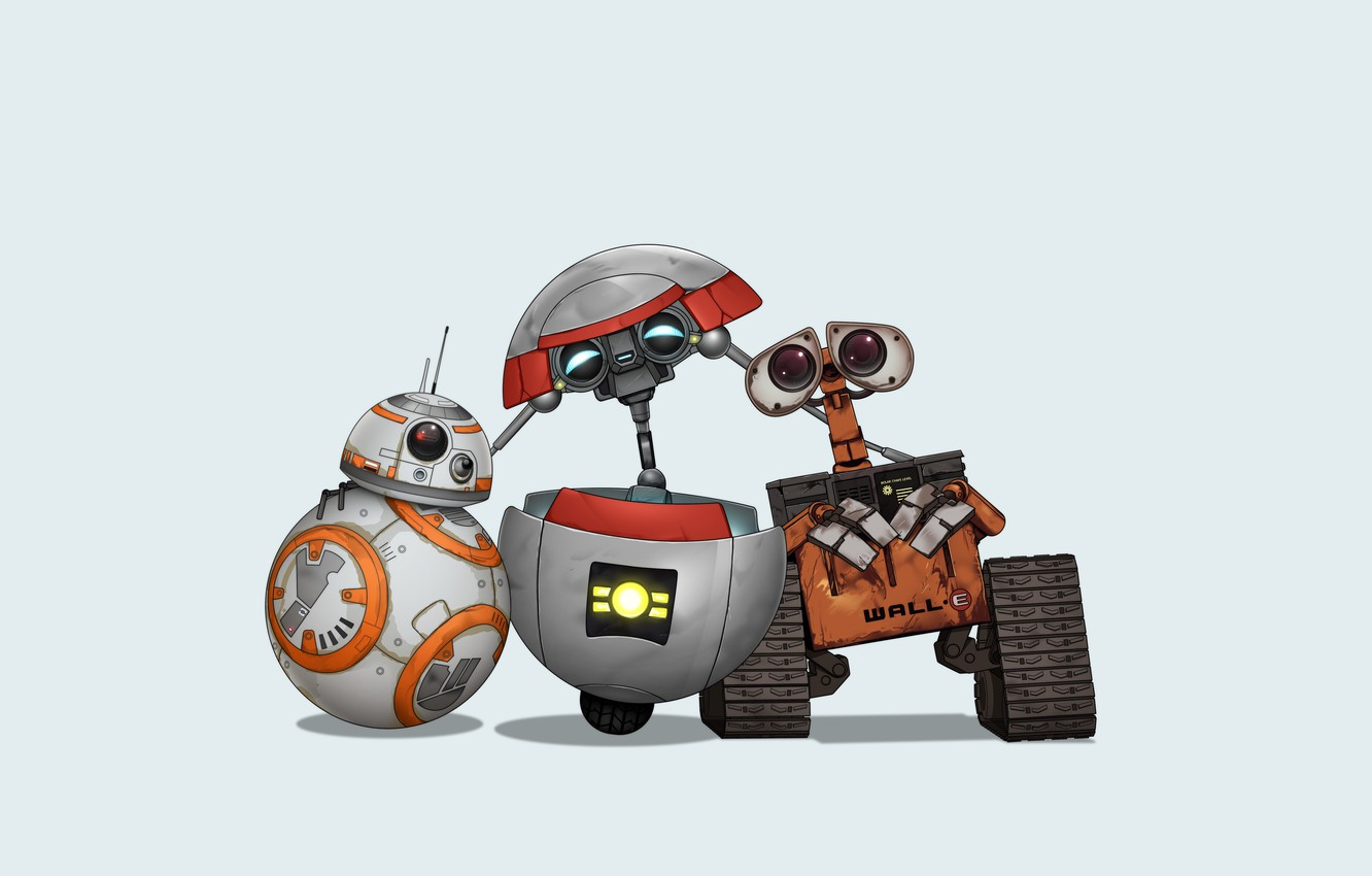 Wallpaper Star Wars Wall E Bb 8 Gortys Tales From The