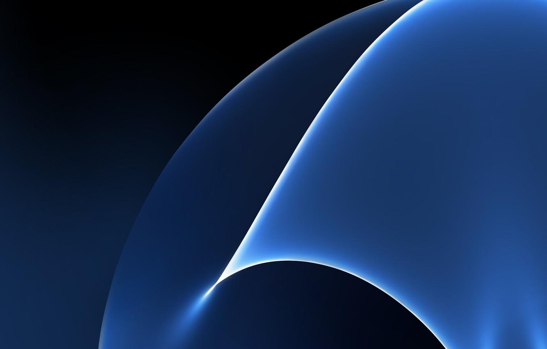 Photo wallpaper Blue, Galaxy, Wallpaper, Samsung, Stock, Abstraction