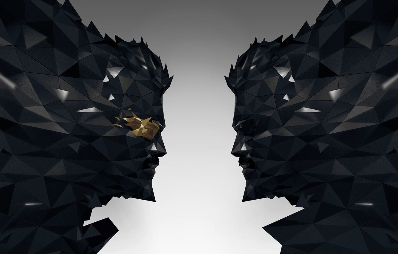 Photo wallpaper face, glasses, beard, cyborg, Square Enix, Adam Jensen, Adam Jensen, Eidos, Deus Ex: Mankind Divided, …