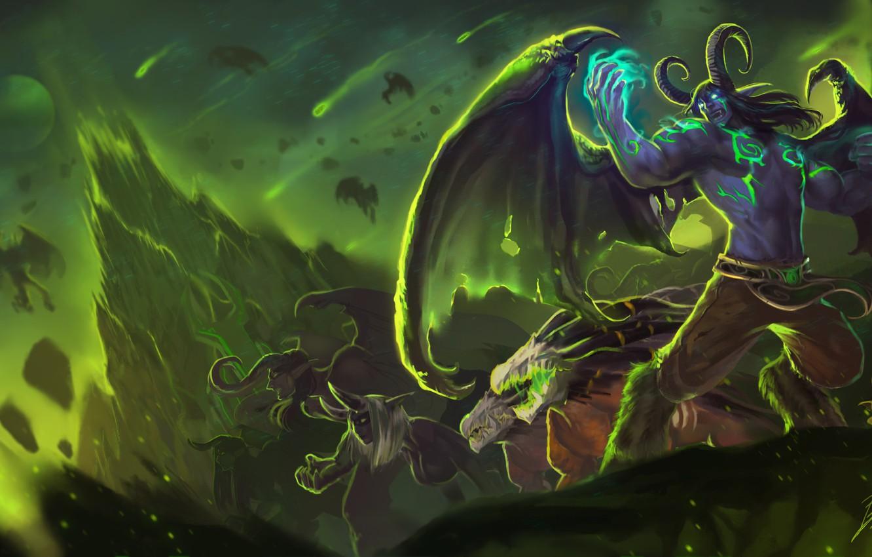 Wallpaper The Demon Wow World Of Warcraft Legion Demon Hunter