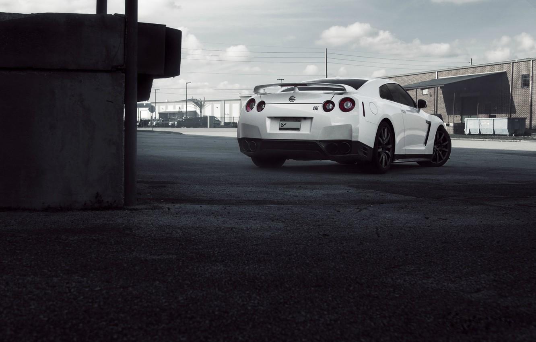 Photo wallpaper machine, the sky, clouds, city, the city, GTR, Nissan, sky, cars, speed, cityscape, Nissan GTR, …