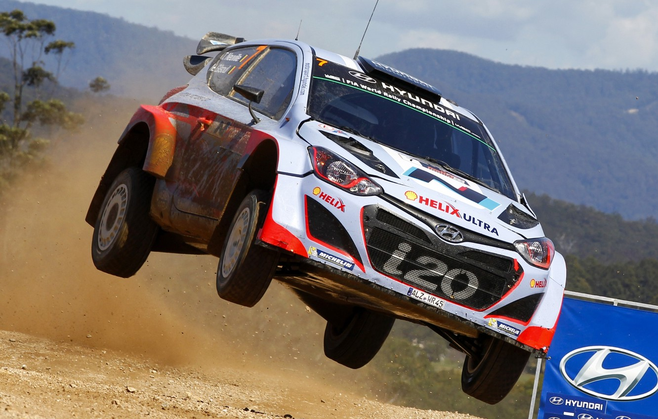 Photo wallpaper Hyundai, WRC, i20