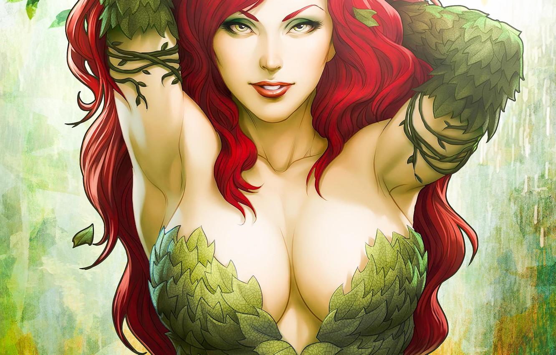 wallpaper girl art dc comics poison ivy images for desktop section fantastika download wallpaper girl art dc comics poison