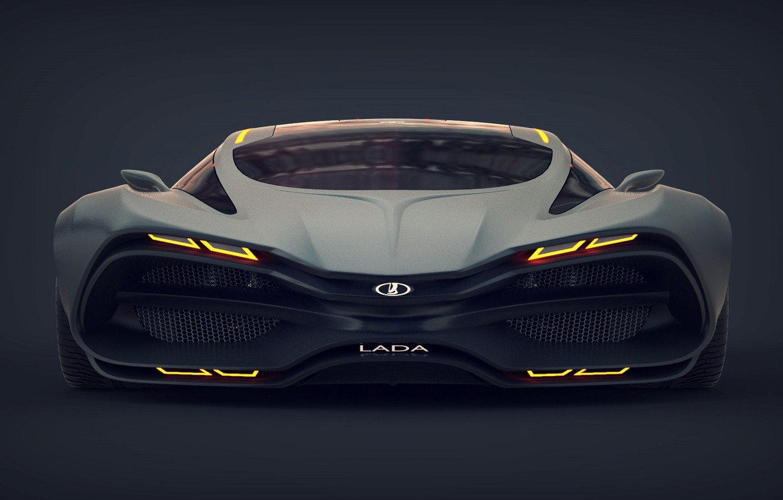 Photo wallpaper Concept, Car, Lada, Lada, The front, Raven, Equal