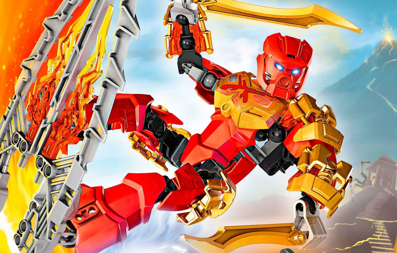 Photo wallpaper LEGO, LEGO, Bionicle, BIONICLE, 70787, maste of fire, Firelord, Taha, Know