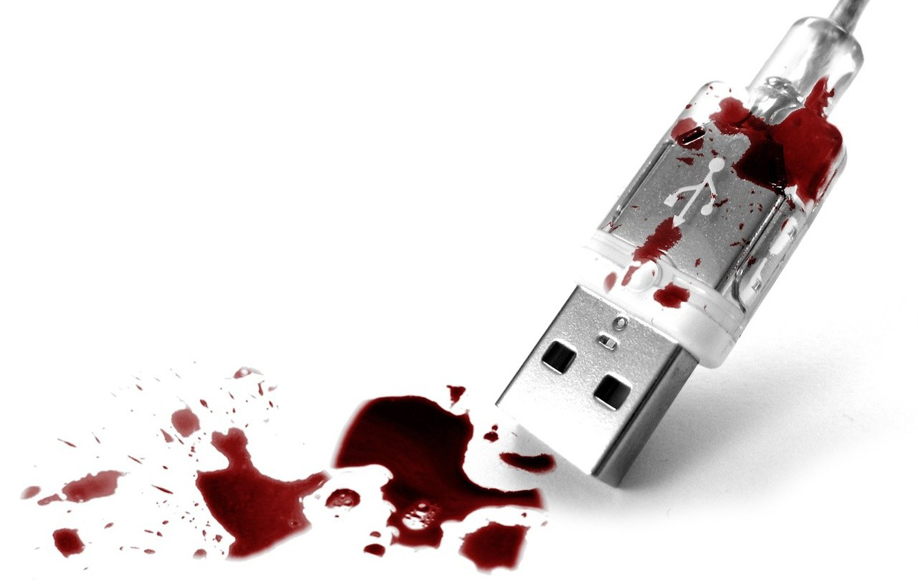 Photo wallpaper blood, Syrup, USB