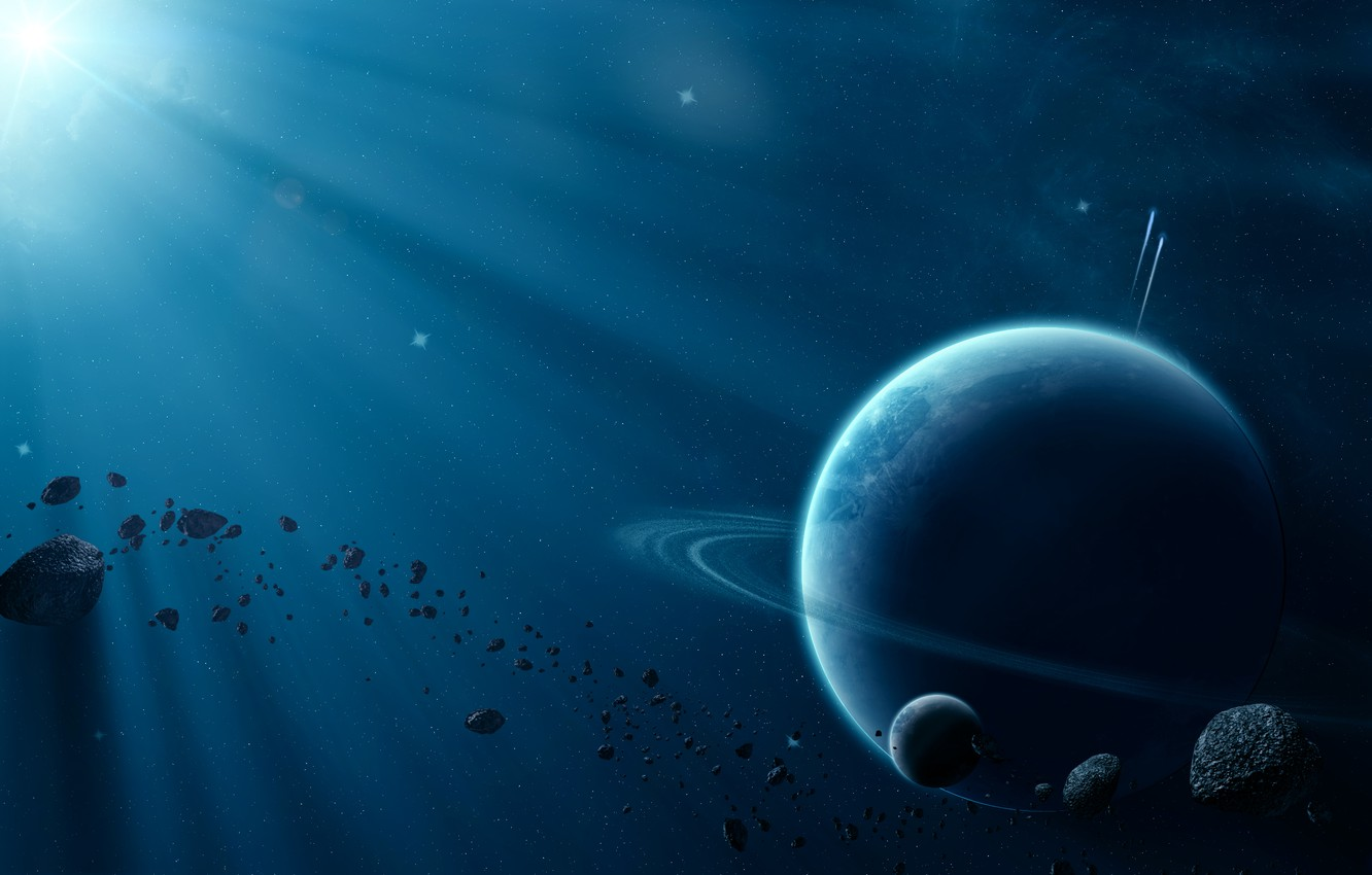 Photo wallpaper space, light, planet, beautiful space