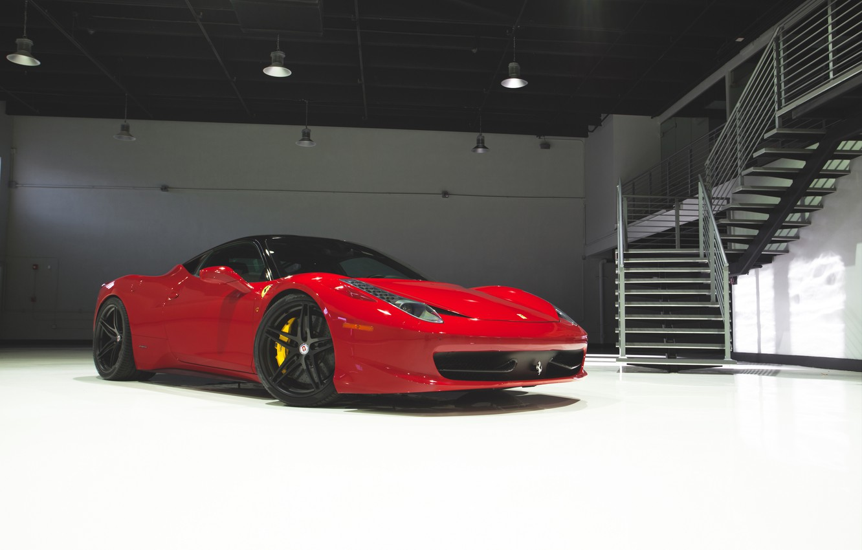 Photo wallpaper Ferrari, 458, Italia, HRE, P107