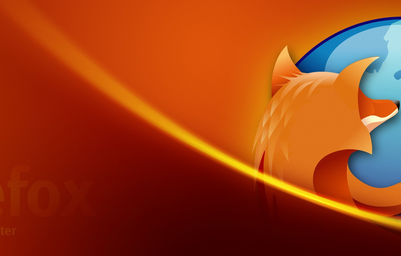 Wallpaper Orange, Fox, Firefox images for desktop, section hi-tech