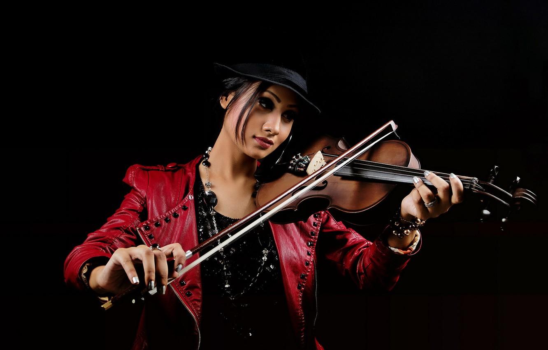 Photo wallpaper girl, music, violin