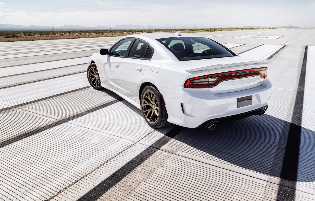 Photo wallpaper background, horizon, Dodge, Dodge, rear view, Charger, Hellcat, SRT, The charger