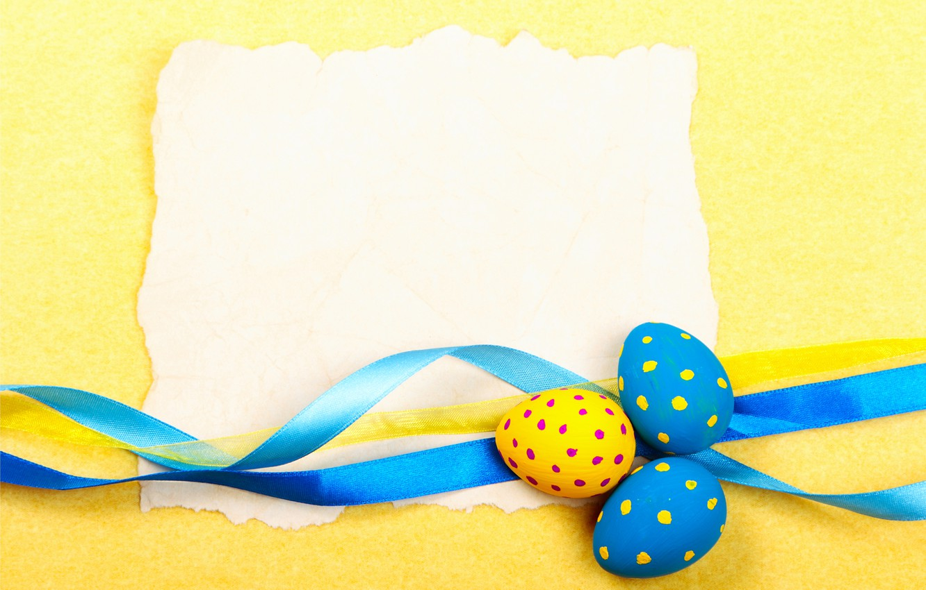 Photo wallpaper eggs, Easter, tape, Easter, eggs, card