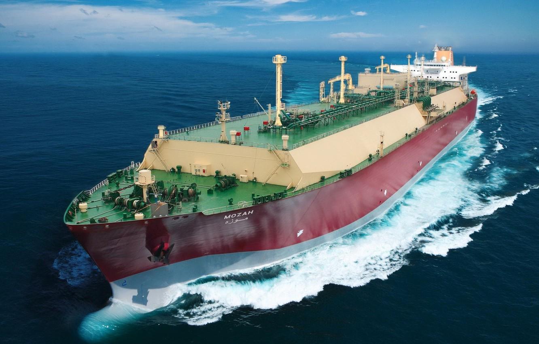 Photo wallpaper sea, ship, tanker, underway, mozah