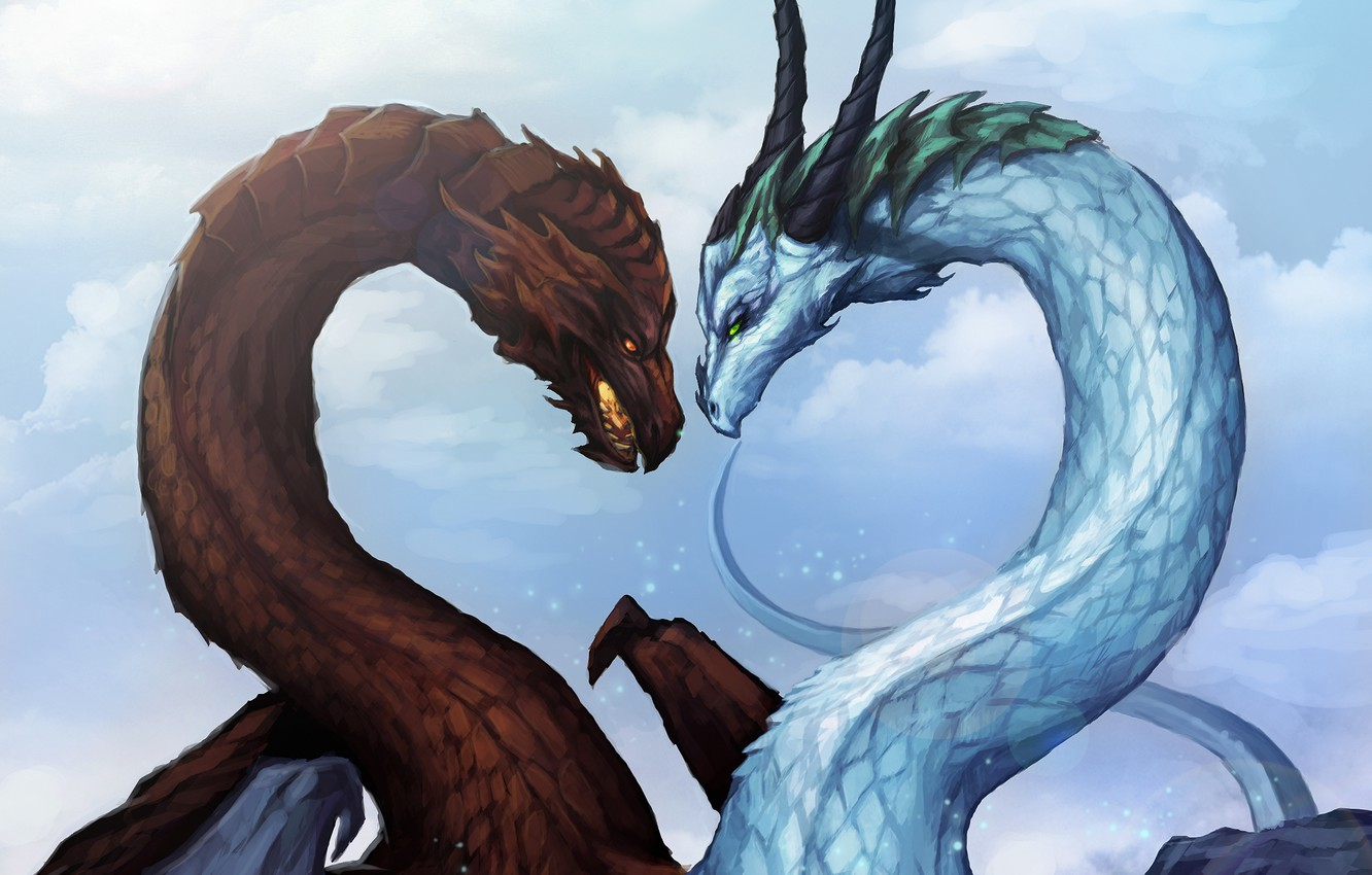 Wallpaper Ice Winter Snow Love Fiction Fire Dragons Frost