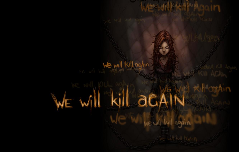 Photo wallpaper evil, clad, we will kill again