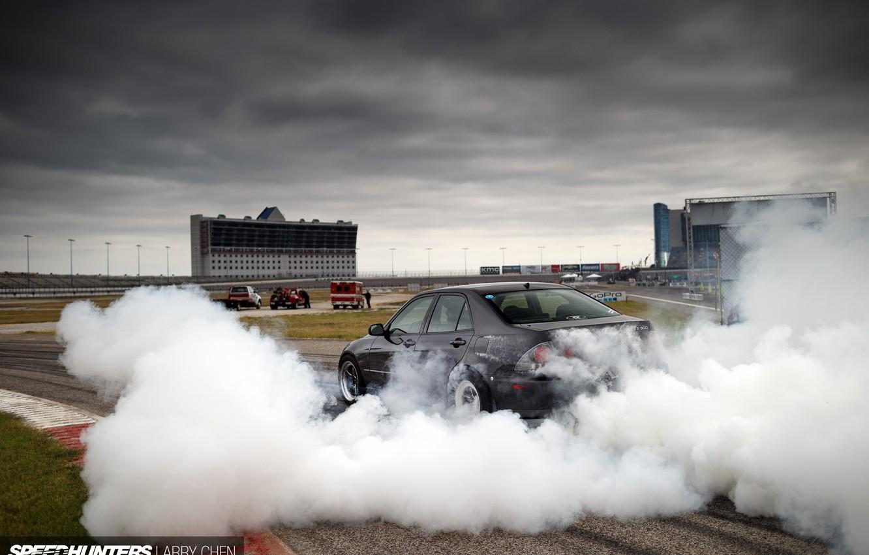 Photo wallpaper turbo, lexus, drift, black, japan, smoke, toyota, jdm, tuning, burnout, racing, height, is200, is300