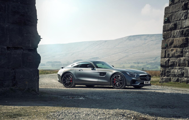 Photo wallpaper Mercedes, Mercedes, AMG, AMG, UK-spec, 2015, Edition 1, GT S, C190